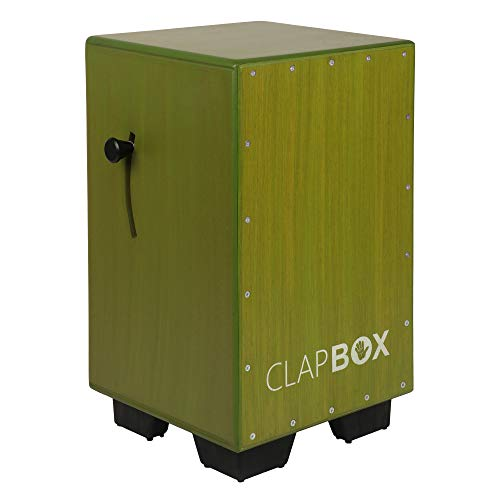 Clapbox Adjustable Snare Cajon CB40- Olive Green, Birch Wood (H:50 W:30 L:30) - 3 Internal Snares