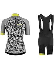 Uglyfrog - Conjunto de maillot de ciclismo para mujer (tejido térmico, manga larga y pantalones de ciclismo 20D + pantalones largos de ciclismo, varios estilos a elegir)