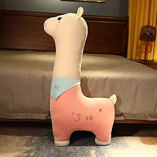 ZDSS Alpaca Animal Toy,Almohada rellena Cojín,Almohada Dormir Alpaca,Alpaca Peluche Juguete,Algodón Almohada,para el hogar Niños Regalo de cumpleaños