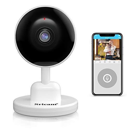 1080P Telecamera WiFi di Sorveglianza, Sricam HD Telecamera sicurezza domestica IP interna con visione notturna, audio a 2 vie, rilevamento del movimento umano per animali domestici anziani bambini