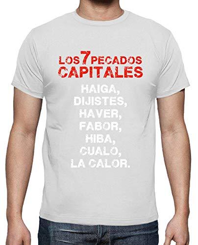 latostadora - Camiseta los 7 Pecados Capitales para Hombre Blanco 4XL
