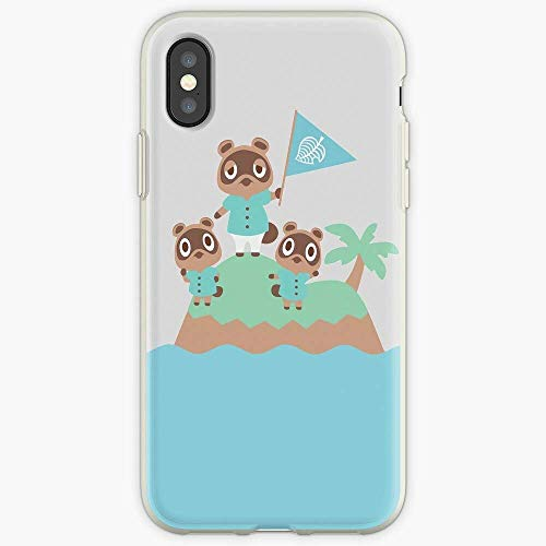 TPU para iPhone 12/12 Pro MAX 12 Mini 11 Pro MAX SE X XS MAX XR 8 7 6 6s Plus Case Horizons Crossing Switch Tom Console Island Tommy Dock Animal Nook Nooklings Timmy Las Cajas del teléfono Pure Clear