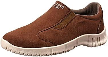 Salerno Side Elastic Band Suede Slip-on Shoes for Men - Camel, 42 EU