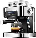 TETHYSUN Coffee Machine Máquina de café Máquina de café Frijol to Taza Espresso Semi automático Cafeteras eléctricas eléctricas Freestanding Acero Inoxidable