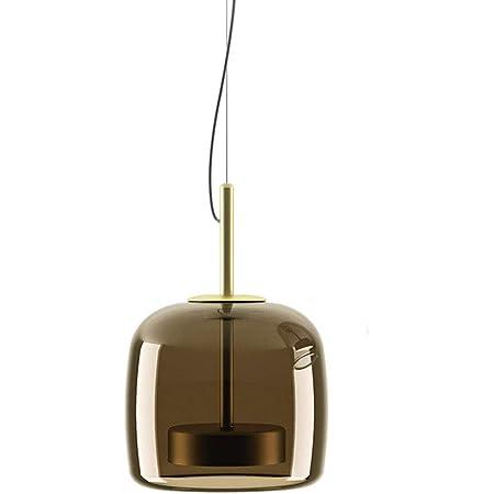 MZStech Nouveau Design Moderne Luminaire Suspension, d'or Métal Et MarronAbat-jour en verre Lumière suspendue, Perles de lampe à LED Lustre (Marron, B)…