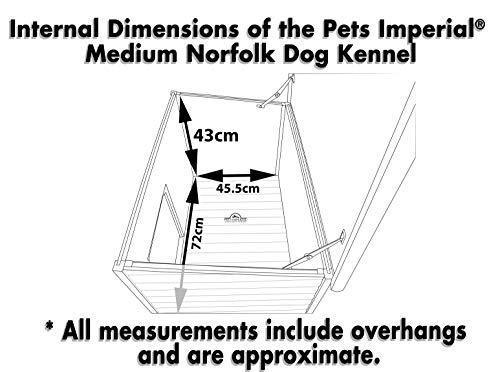 Größe Medium, isolierte Norfolk Hundehütte aus Holz mit entfernbarem Boden zur einfachen Reinigung A - 7