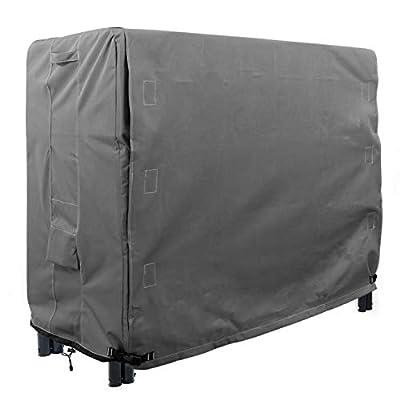 KHOMO Gear - Heavy Duty Log Rack Cover - 4 Feet - Titan Series - Grey