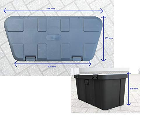 HGW Anhängerbox,Gurtkiste, Deichselbox 45 Liter, inkl. Befestigungsmaterial - 2