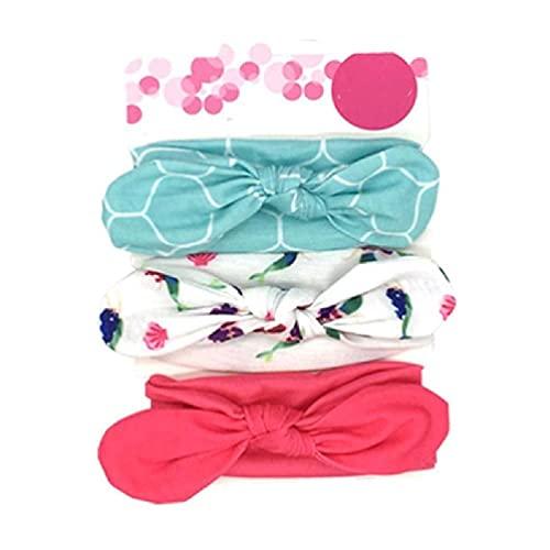 Luluspace 3 piezas bonitas bebé niñas algodón lazos para el pelo diademas elásticas linda banda para el pelo accesorios para niños niños pequeños bebés