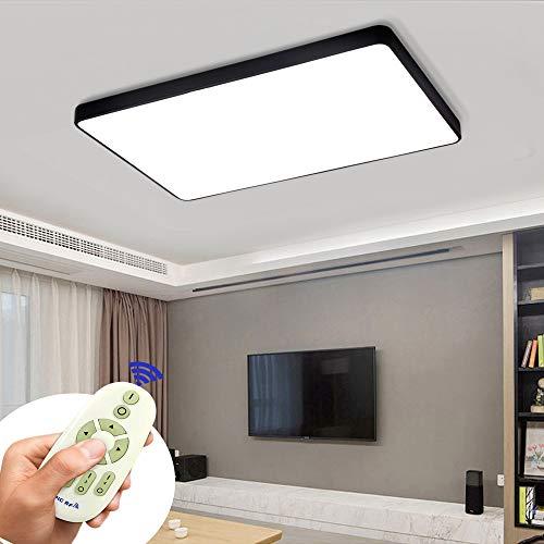 COOSNUG Lámpara de techo LED 72W Luz de techo cuadrada regulable negra Sala de estar Dormitorio Cocina Panel Luz (3000-6500K) [Clase energética A ++]