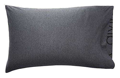 Calvin Klein Home Modern Cotton Body, Standard Pillowcase Pair, Charcoal, 2 Count
