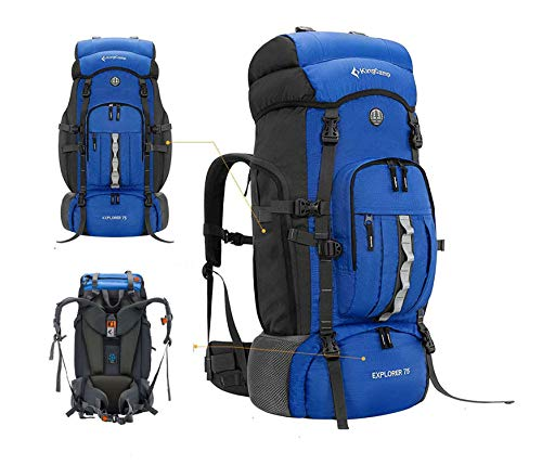 KingCamp Hiking Backpack 75L Large Capacity Internal Frame, High-Performance Backpacks Daypack Backpacking for Camping, Traveling, Trekking, and Outdoor Sports