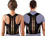 Adjustable Back Posture Corrector for Women&Men with Spine Back Support, Breathable Lower and Upper Back Brace for Posture Improves and Pain Relief From Neck,Back,Shoulders (Small/Medium(24-33 Inch))