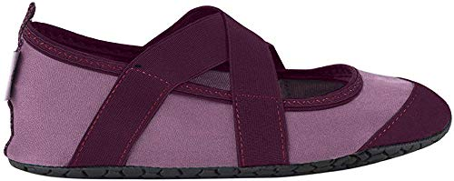 FitKicks Crossovers Women's Foldable Active Lifestyle Minimalist Footwear Barefoot Yoga Water Shoes Mauve