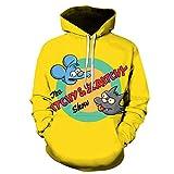 Simpson Anime Streetwear Graffiti 3D Hoodie Hombres/Mujeres otoño Moda Priny Hoodie Ropa Divertida Sudadera hombre-A02_4XL