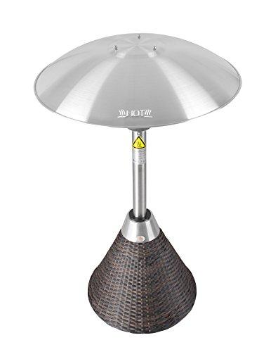 Firefly 2.100 Watt Infrarot-Heizstrahler (Halogen) Terrassenheizung, Tischheizung, 3 Leistungsstufen, Braun - 5