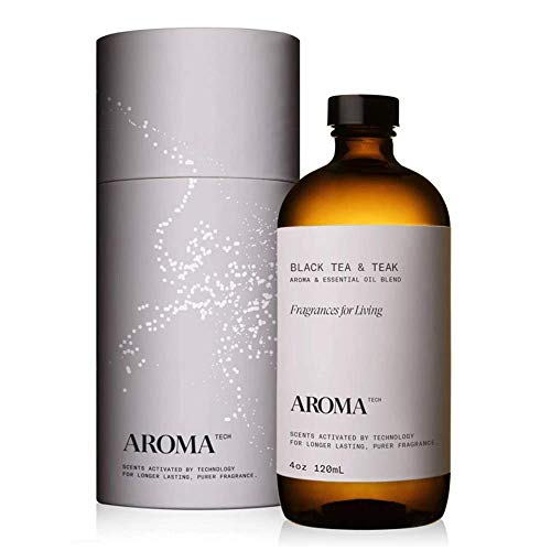 AromaTech Black Tea & Teak Aroma Oil for Scent Diffusers, Premium Aroma Oil, 100% Pure Diffuser Blend Oak Moss, Cedar Wood, Sheer Bergamot for Cold-Air and UltraSonic Scent Machines - 120 Milliliter