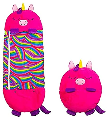 MRZJ Happy Spielkissen Fun Saco de dormir plegable Soft Kids Animal Saco de dormir para niños Saco de dormir y saco de dormir para niños Camping Saco de dormir Unicornio Pink Large
