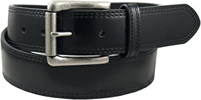 Dickies Men's Leather Classic Casual Belt, Black, 44 (Waist: 42)