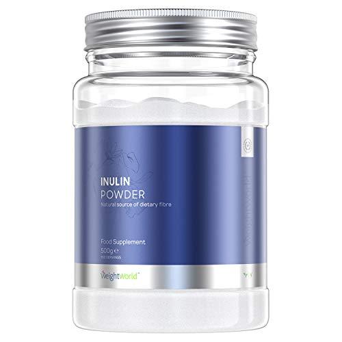 Inulina Vegana en Polvo, Prebiótico Natural | Enzimas Digestivas para Hinchazón Abdominal y Gases | Con Fibra | Sin Gl