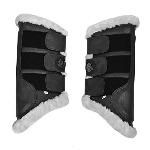 Kingsland Gamaschen Juan für Hinterbeine, 2er-Pack Größe Warmblut, Farbe schwarz