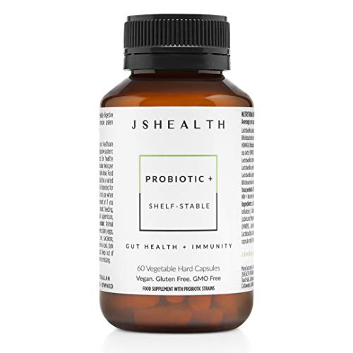 JSHealth Vitamins Probiotic + Formula | Probiotics for Women and Men | Shelf Stable Probiotic Supplement for Digestive Health and Immune Support (60)