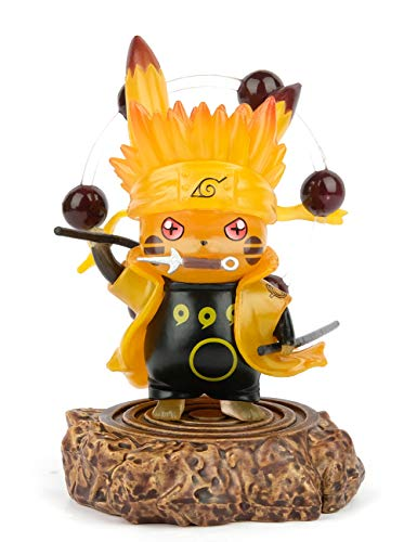 "Naruto Actions Figures GK Pikachu Cosplay Uzumaki Naruto Figure Statues Rikudousennin Modo Collection Birthday Gifts PVC 4"""