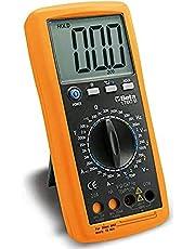 BETA 1760B multifunctionele digitale multimeter meetinstrument multimeter (gecertificeerd gereedschap met eenvoudige bediening, hoogwaardige materialen, spanningstester incl. 1 9V-batterij), oranje