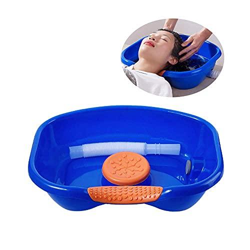 AGDLLYD Lavatesta portatile gonfiabile,Semplifica il lavaggio dei capelli,Vassoio per lavare capelli in lavandino,ottimo per chi e' immobilizzato a letto
