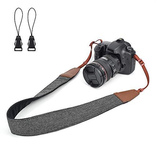 LIFEMATE Camera Shoulder Strap Belt for All DSLR Camera Multi Color Neck Belt for Canon, Nikon, Sony,Pentax, Fujifilm, and Digital Camera (Black)