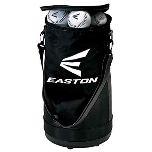 Easton Balltasche | Baseballs Softballs | 2020 | schwarz | Kunststoffboden schützt vor Schmutz & Wasser | verstärkte Seiten | Verstellbarer Tragegurt