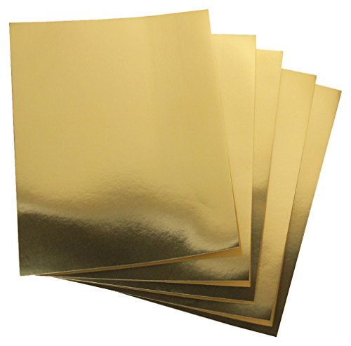 Hygloss 25 Gold, 8.5 x 11-Inch Metallic Foil Board Sheets, Count