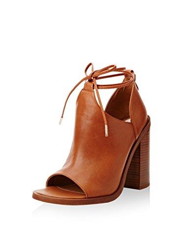 Jeffrey Campbell Tiara Leather, Chaussures à Talons à Bout Ouvert Femme, Marrone Tan, 41 EU Stretta