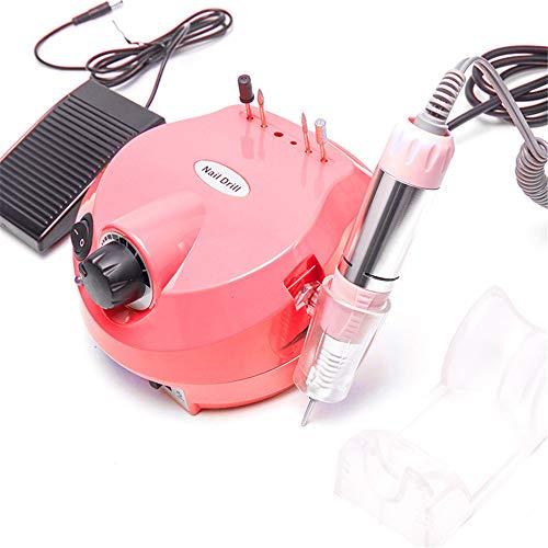 Elektrische nagel boor vijl 30000 rpm acryl nagel e-vijlmachine Krachtige manicure pedicure polijstslijperset voor het verwijderen van gelnagels, verdunnen en gladmaken van nagels,Red