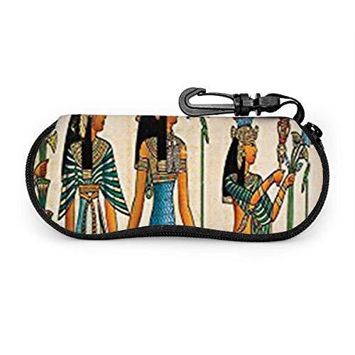 Wthesunshin & Atilde;& Bdqu;Gips Pharao zonnebriletui zacht etui met ritssluiting beschermhoes met riemclip