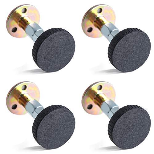 Marco de Cama Roscado Ajustable - Herramienta Antisacudidas 4 Piezas Soporte Telescópico Antivibración La Cama Fija no Tiembla, Herramientas para cama, armario, sofá, 67-87 mm.