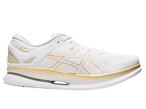 ASICS MetaRide - Zapatillas de correr para hombre, color blanco y dorado, color Blanco, talla 46.5 EU
