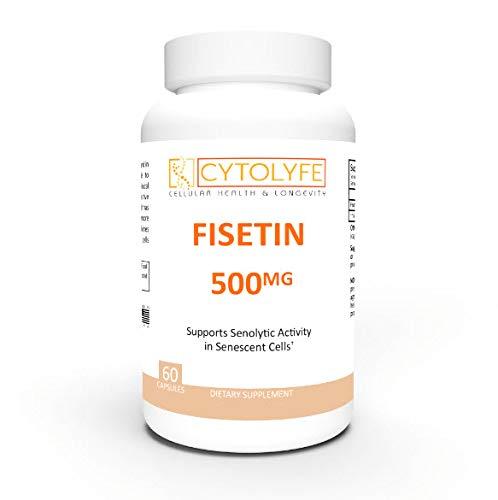 Fisetin 500mg | 98% Pure Fisetin | 500mg Therapeutic Dose | 60 Servings | Senolytic Activator | Anti-Aging & Longevity |