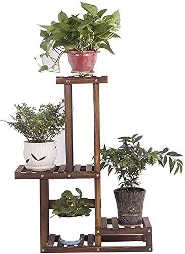 Balcón decoración flor soporte de madera maciza estante de la flor aterrizaje multicapa bonsai marco balcón maceta maceta estante pantallas pantallas de exhibición estantes de flor para jardín patio p