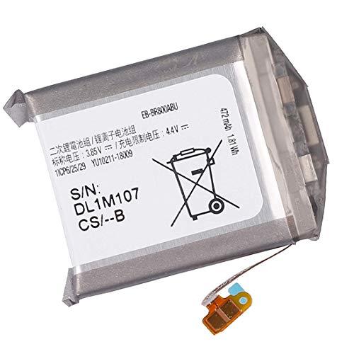 Backupower Batería de repuesto EB-BR800ABU GH43-04855A compatible con Samsung Galaxy Gear S4 SM-R800 SM-R805 SM-R810 46 mm Smart Watch