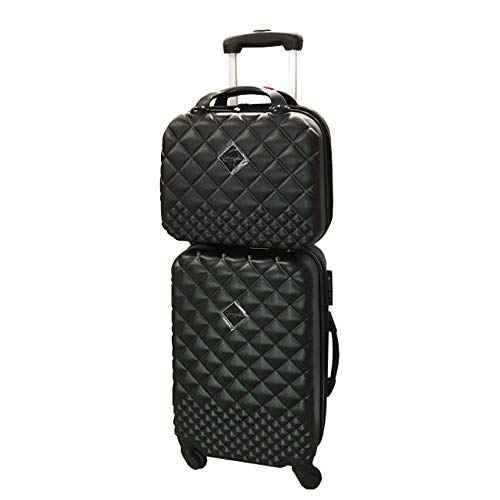 Camomilla Milano set valigia 46lt + vanity case 12lt black