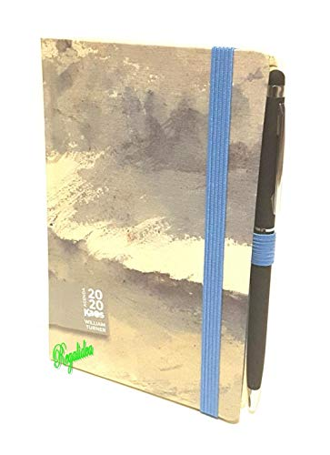 Agenda Kaos William Tuner Studio Meer Aquarell 2020 12 Monate Woche 21 x 13 cm mit Gummizug + gratis Stift + gratis Buntstift + gratis Lesezeichen