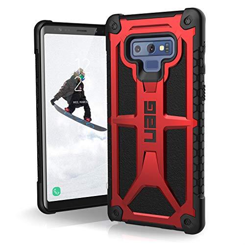 Urban Armor Gear Monarch Hülle für Samsung Galaxy Note 10 Plus Handyhülle nach US-Militärstandard (Kompatibel mit der 5G Version, Qi kompatibel, Sturzfest, Vergrößerte Tasten, Leder) - rot