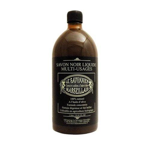 Véritable Savon noir 1L Multi-usages liquide à l' Huile d'Olive100% Made In France