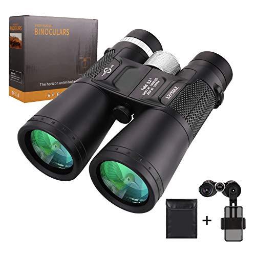 Fernglas Erwachsene 12X50, KEPLUG Ferngläser mit kompakt für Vögeln, Camping, Wandern. Binoculars HD Wasserdicht mit Tasche und Handy-Kameraständer, BAK4-Prisma, SMC-Beschichtungen