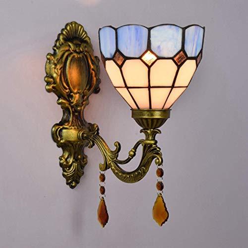 AWCVB Tiffany Style Wall Luz De Pared Decoración De La Pared Luz De Pared Lámparas De Noche Base De Aleación para Dormitorio