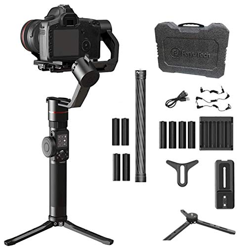 Feiyu ak2000 3-Axis Handheld Gimbal Stabilizer for DSLR and Mirrorless Cameras, with tripod,extension rod and extra battery