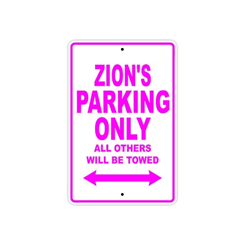 """Zane's Parking Only All Others Will Be Towed Name Gift Novelty Metal Aluminum 12""""x18"""" Sign"""