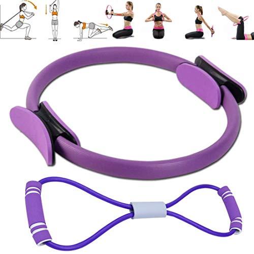 crazy bean Anello Pilates Yoga Fitness Attrezzo Interno Coscia Cerchio Pilates Ring Magic Circle Cerchia Pilates Fitness Anello Yoga Gym Fitness Allenamento