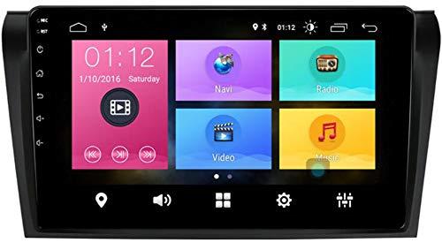 WYFWYT Android 9.0 Car Stereo Double DIN Head Unit para Mazda 3 2006-2013 Navegación GPS Pantalla táctil de 9 Pulgadas Reproductor Multimedia MP5 Receptor de Video y Radio con 4G WiFi,4g+WiFi 2g+32g